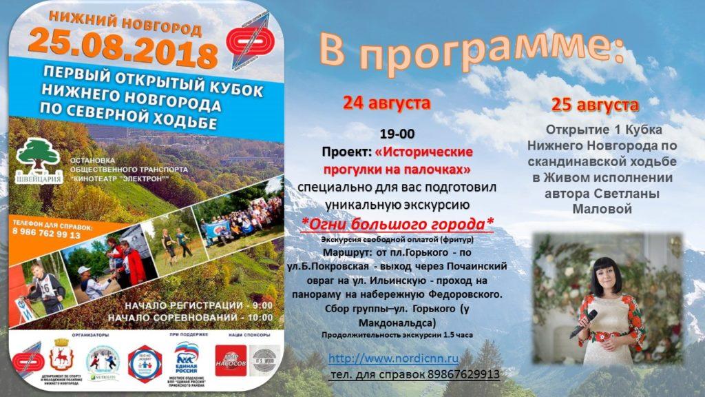 1 Открытый Кубок Нижнего Новгорода по Скандинавской ходьбе